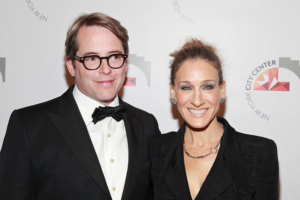 Matthew Broderick and Sarah Jessica Parker smiled at a ribbon-cutting in NYC.