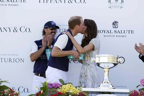 The newlyweds enjoyed themselves at a 2011 polo match in Santa Barbara.