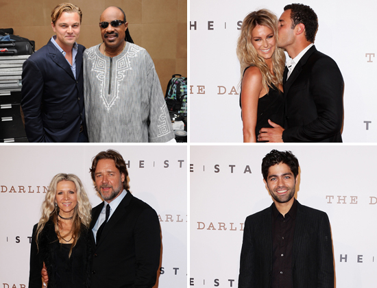 Jennifer Hawkins, Russell Crowe, Adrian Grenier Pictures at The Star Official Opening With Leonardo DiCaprio