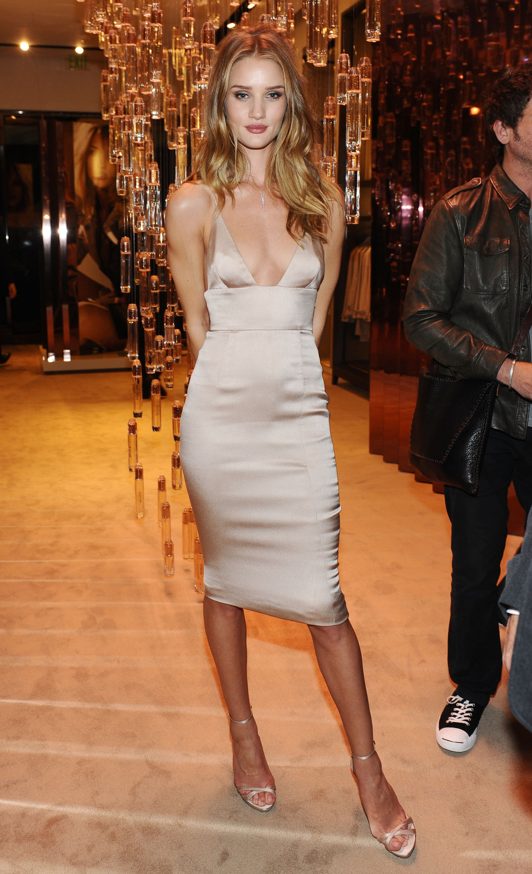 Rosie Huntington-Whiteley attended the Burberry Body launch.