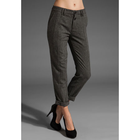 These gray tweed trousers are begging to be worn with a button-down and bow tie. Comune Tweed Trousers (approx $73)