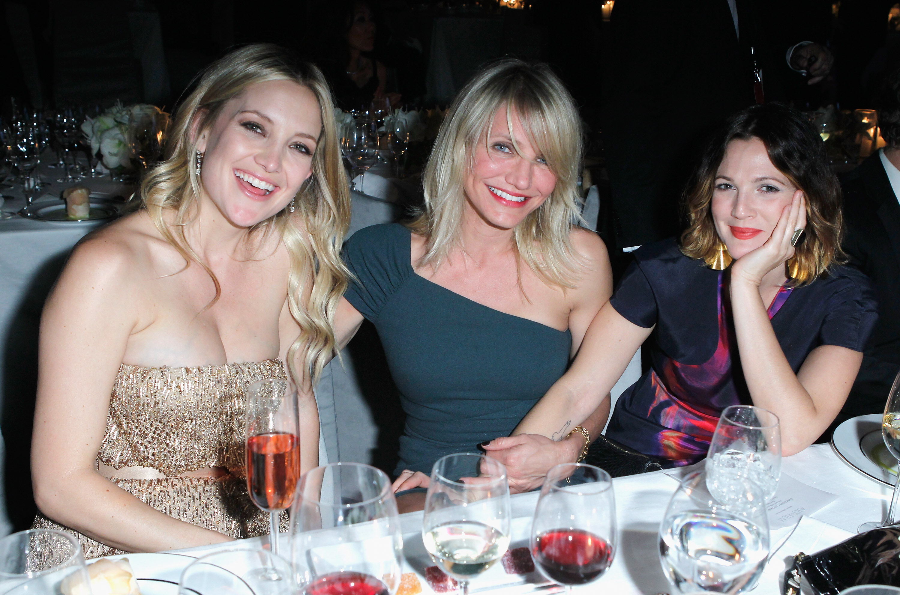 Kate Hudson, Cameron Diaz, and Drew Barrymore caught up.