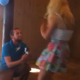 Woman Faints During Marriage Proposal