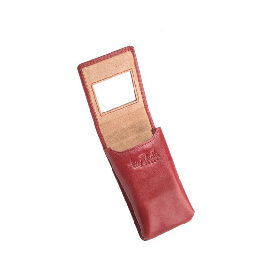 If the previous case is a tad too delicate for your loved one's liking, the Tony Perotti Ultimo Leather Double Lipstick Case ($44), which has a more modern edge, is the way to go. It can be personalized (up to 10 characters) and comes in dapper shades of black, brown, cognac, burgundy, or red.