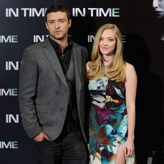 Justin Timberlake and Amanda Seyfriend in Madrid For In Time