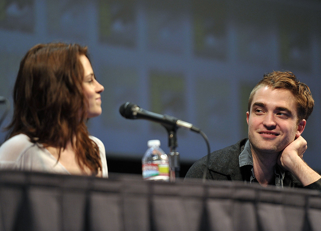 Robert Pattinson and Kristen Stewart spoke together at a Breaking Dawn Part 1 panel during Comic-Con in 2011.
