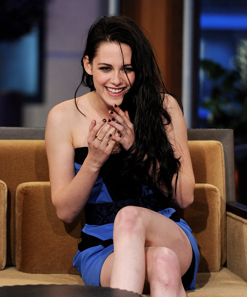 Kristen Stewart had a case of the giggles on The Tonight Show with Jay Leno.