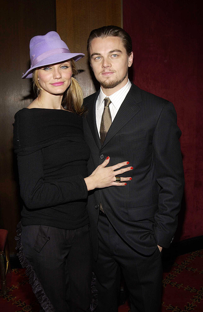 Cameron Diaz and Leonardo DiCaprio got cozy at the Gangs of New York premiere in 2002.