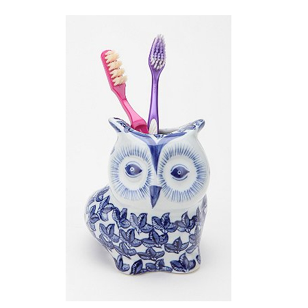 Floral Owl Toothbrush Holder, approx $11.65