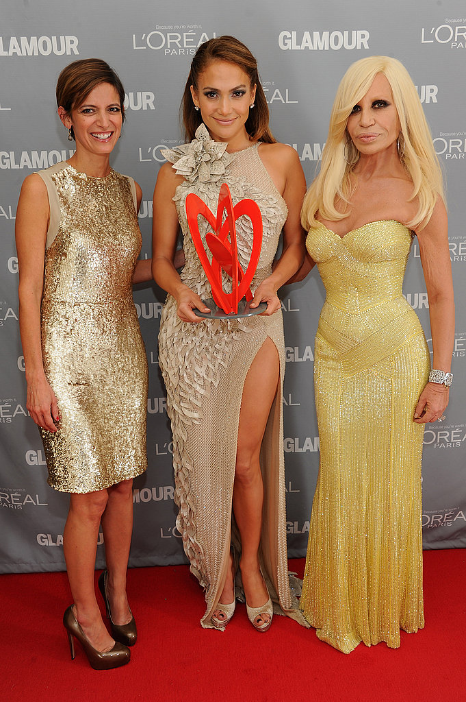 Donatella Versace, Jennifer Lopez and Cindi Leive hung out at the 2011 Glamour Women of the Year Awards.