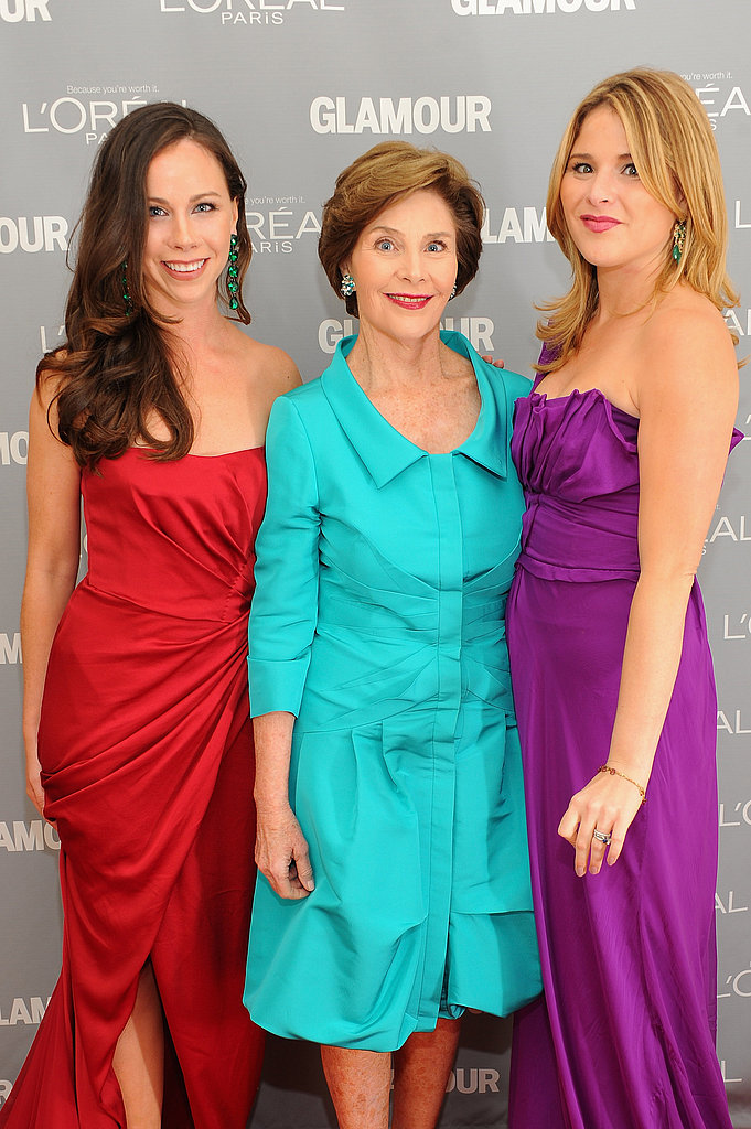 Barbara Bush, Laura Bush, and Jenna Bush were among the attendees at Glamour's Women of the Year Awards.