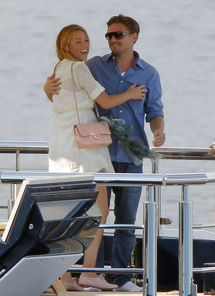 Leo and Blake Lively got cozy on Steven Spielberg's yacht in Cannes in May 2011.