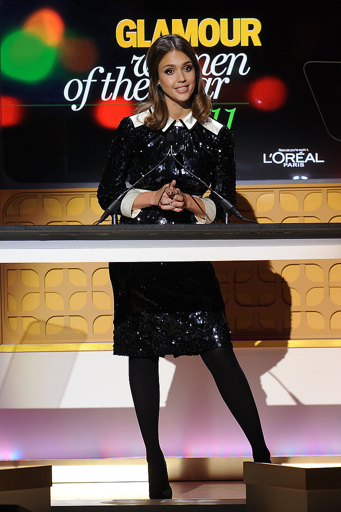 Jessica Alba was a presenter at the 2011 Glamour Women of the Year Awards.