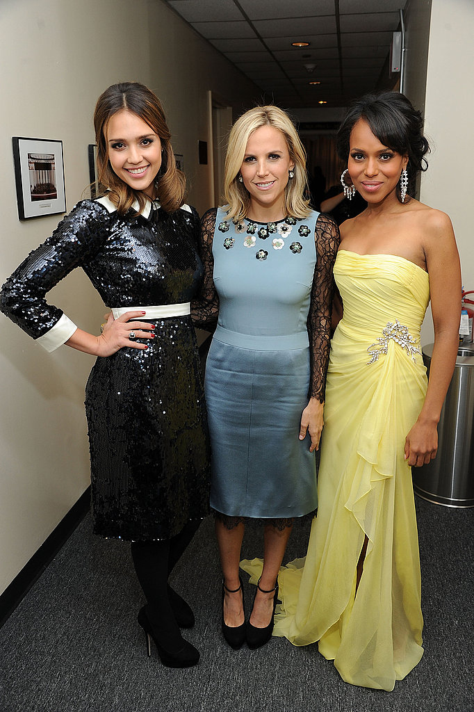 Jessica Alba, Tory Burch, and Kerry Washington met up backstage at the 2011 Glamour Women of the Year Awards.