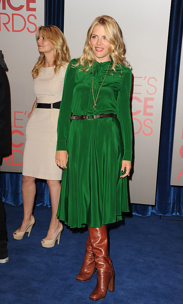 Busy Philipps in green at the People's Choice Awards nominations.
