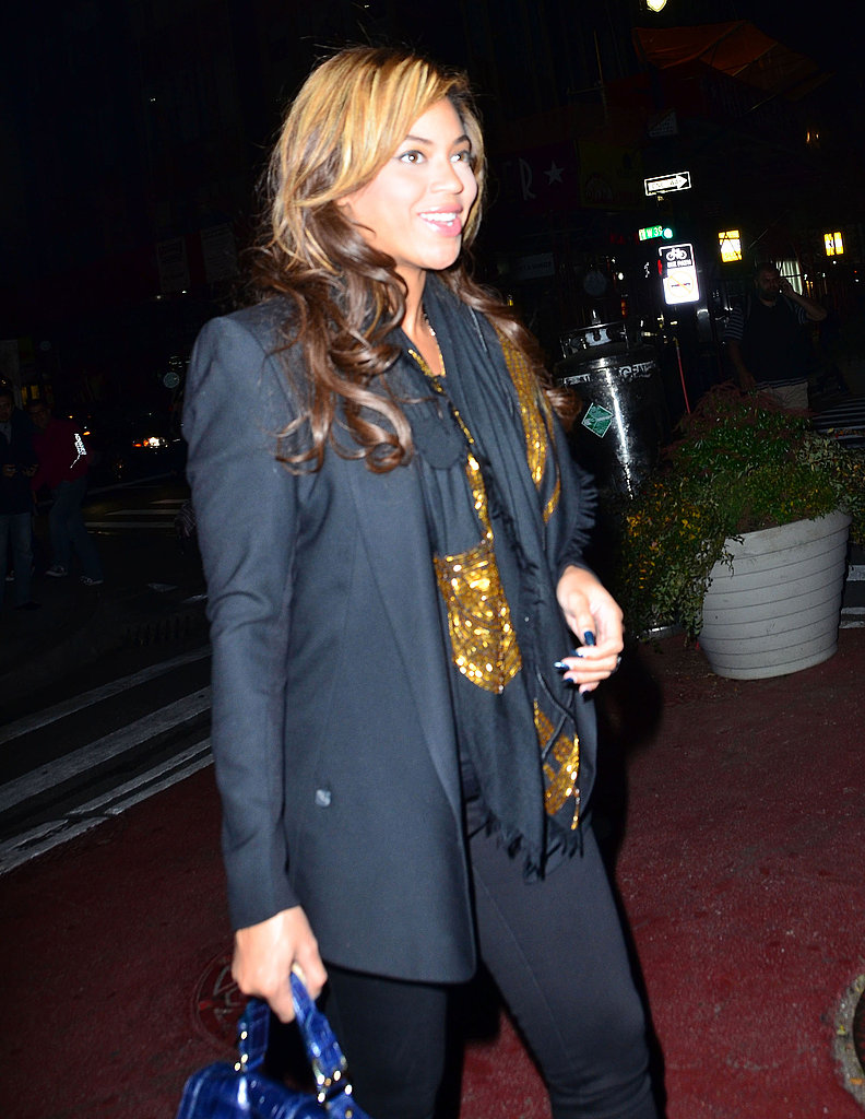Beyoncé Knowles left a meeting after sundown in NYC.