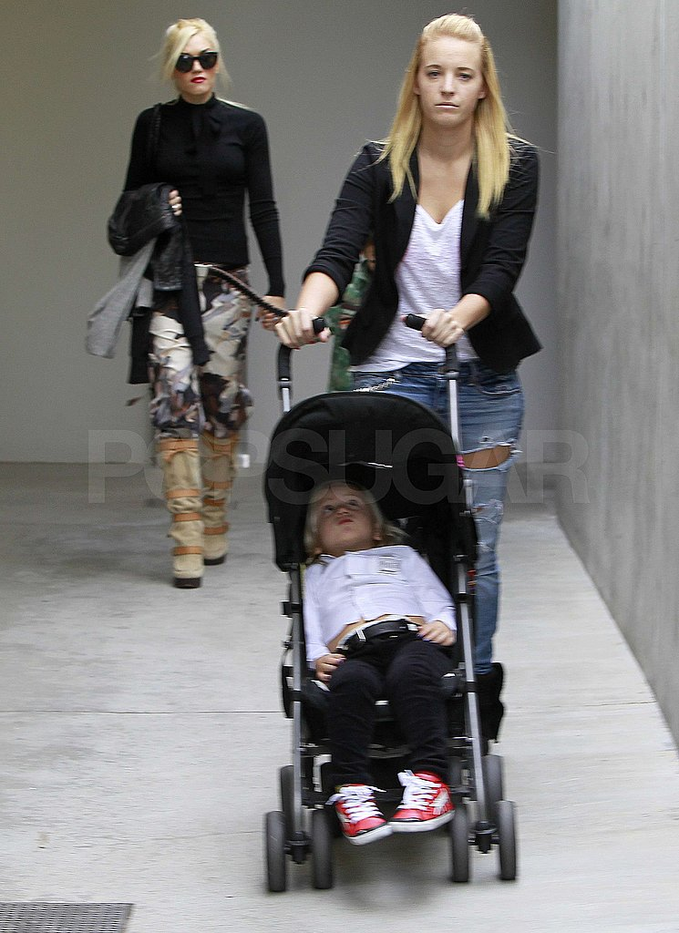 Gwen Stefani had Kingston Rossdale and Zuma Rossdale along for a Sunday out.