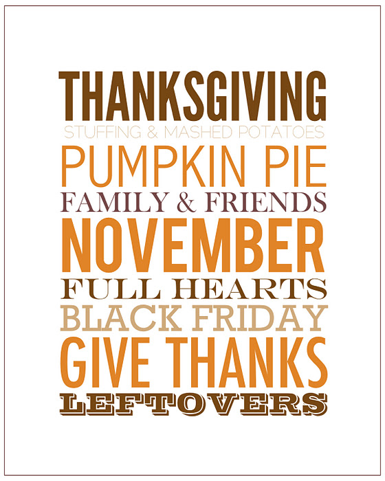 Multipurpose Thanksgiving Printable