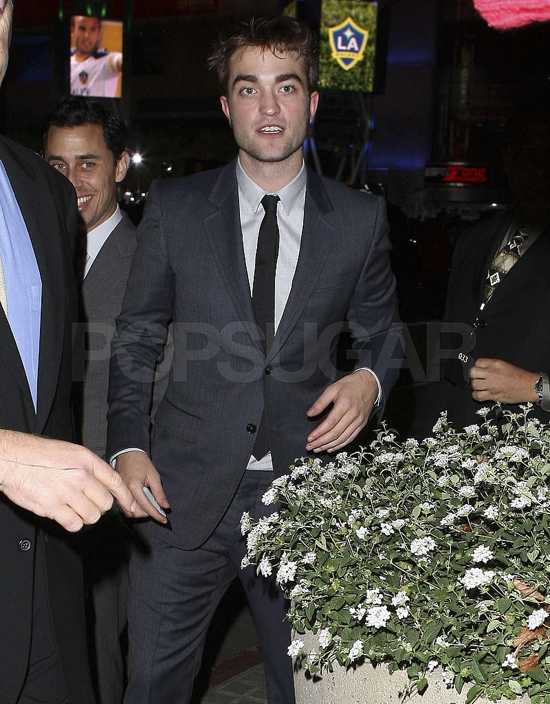 Rob Pattinson arrived for the Breaking Dawn afterparty.