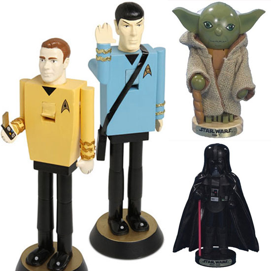 Star Trek and Star Wars Nutcrackers