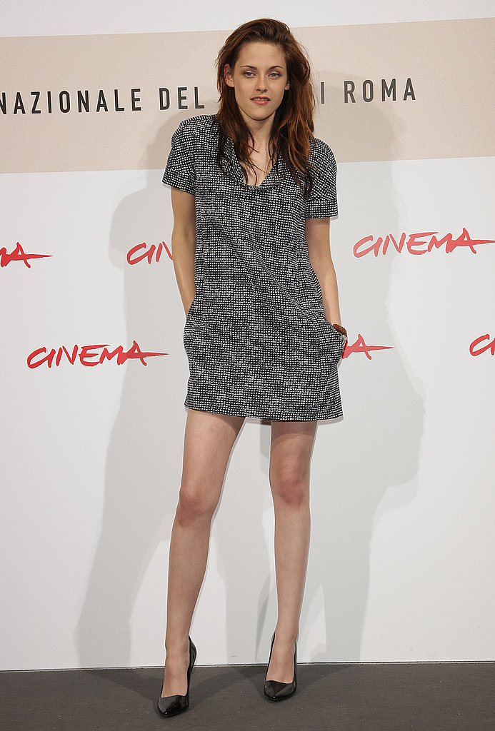 A chic tweed mini for the Twilight photocall at the Rome International Film Festival in 2008.