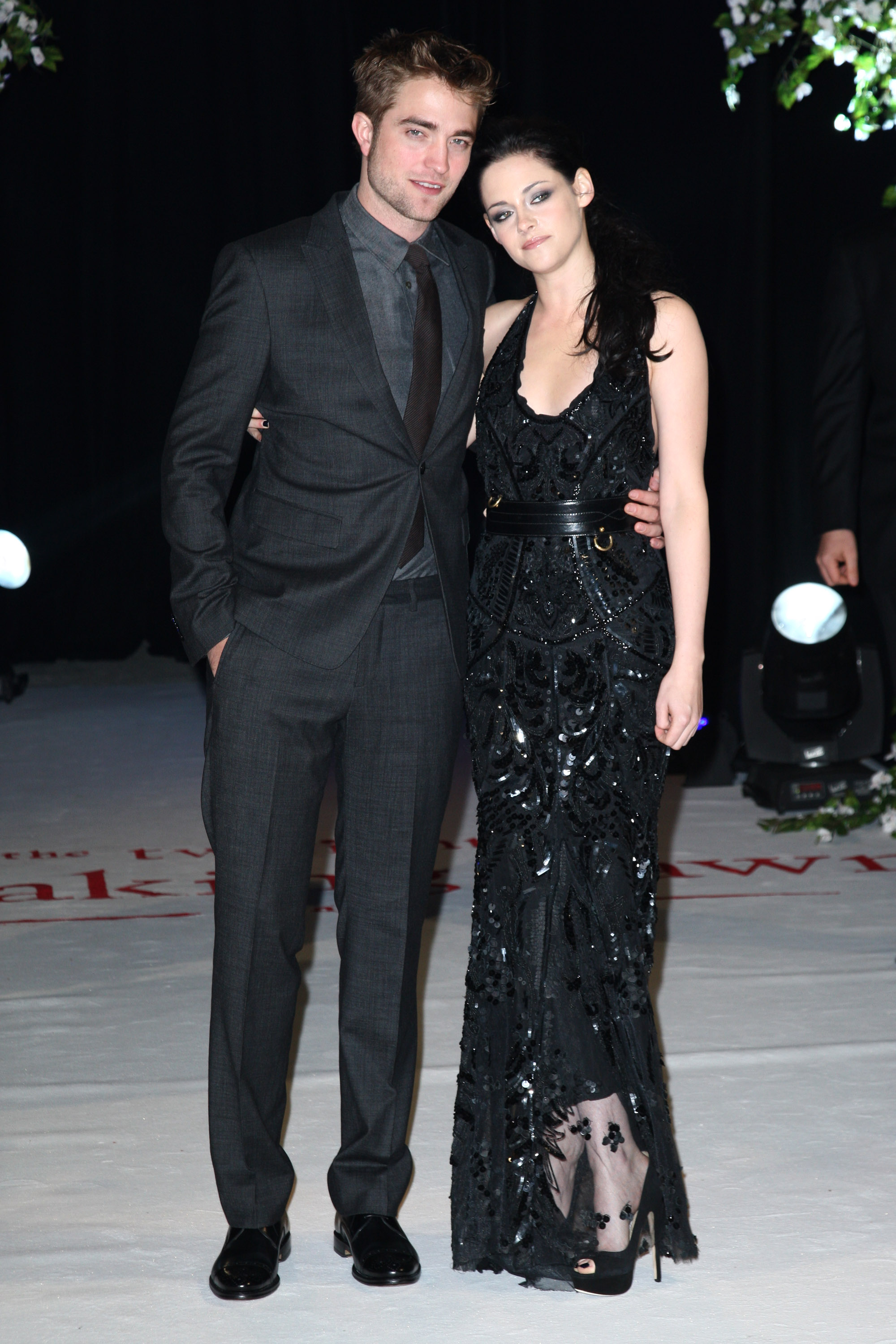 Robert Pattinson and Kristen Stewart at the premiere of Breaking Dawn Part 1 in London.