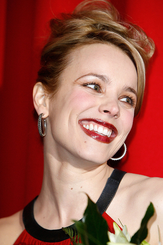 Rachel showed off bright red lips and a big grin in 2011 at the NYC premiere of Morning Glory.