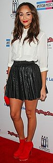 Ashley Madekwe in Equipment Blouse and Kandee Booties