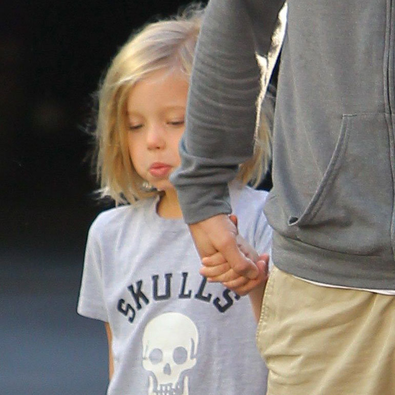 Shiloh Jolie-Pitt checked out a screening of Hugo.