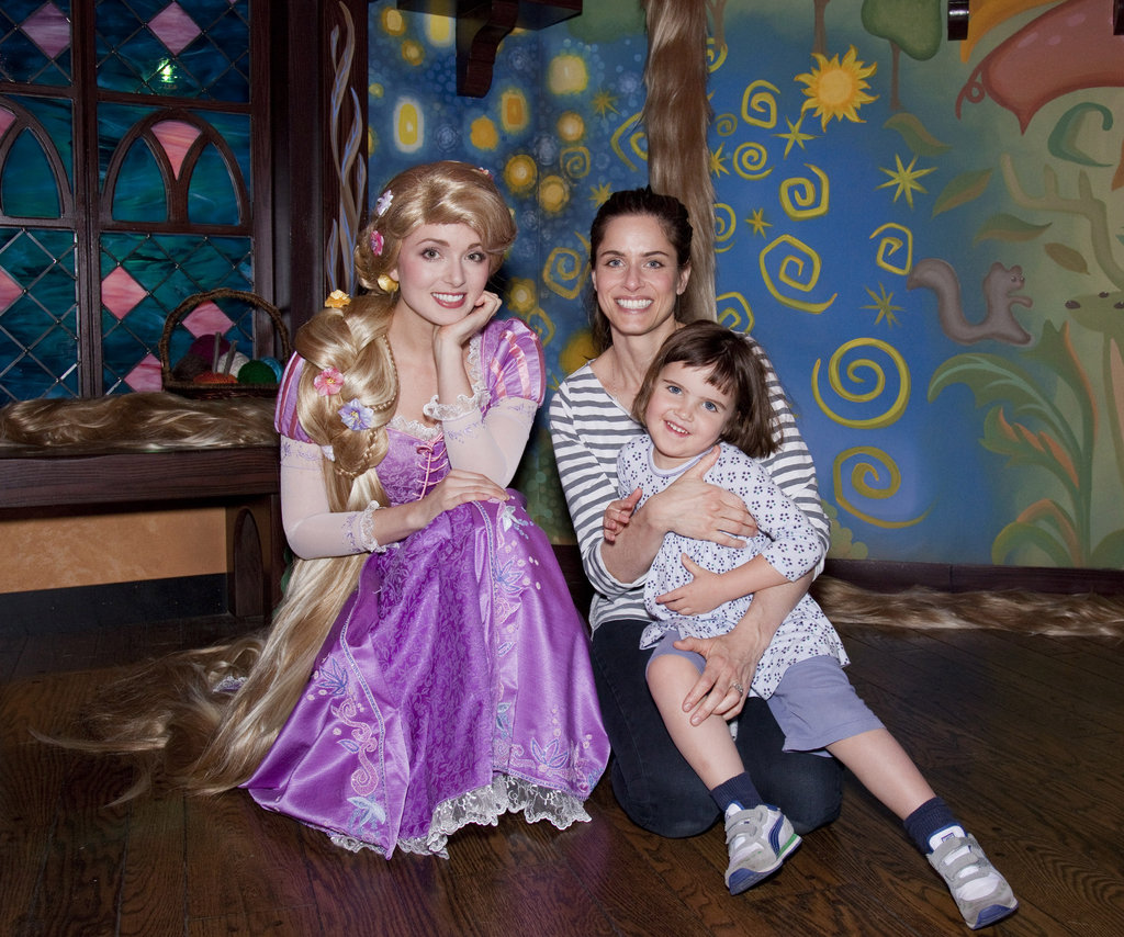 Amanda Peet and her daughter, Frances, posed with a princess during a January 2011 trip.