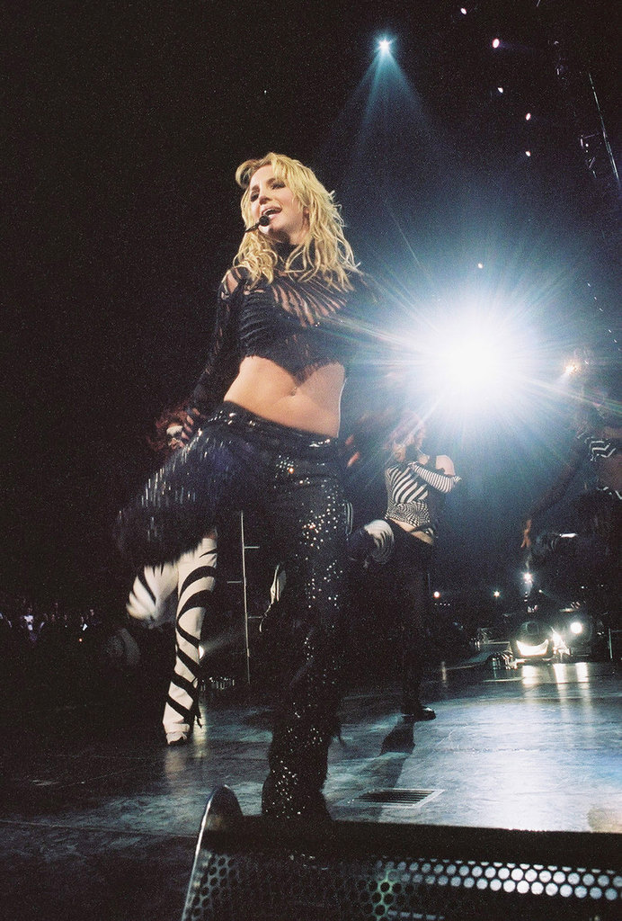 She showed off her moves at a New Jersey concert in 2002.