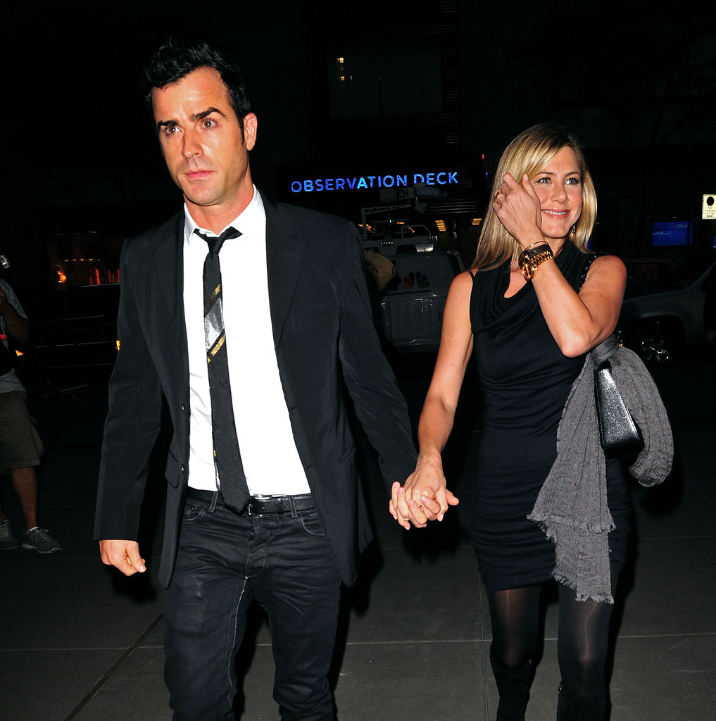 The couple held hands as they arrived at NYC's Rockefeller Plaza in September 2011.