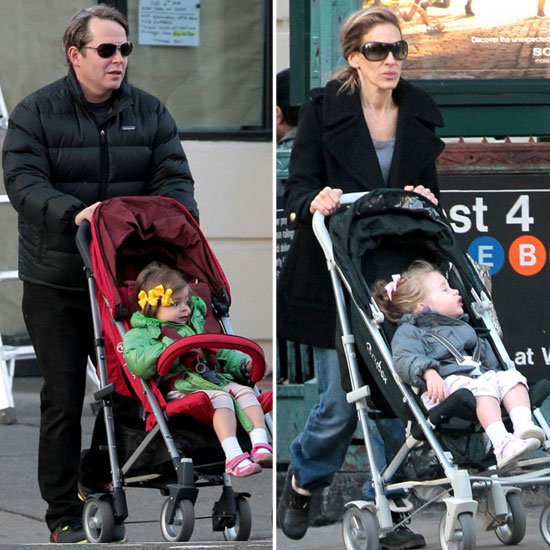 SJP and Matthew Broderick Team Up to Take the Twins Out in NYC