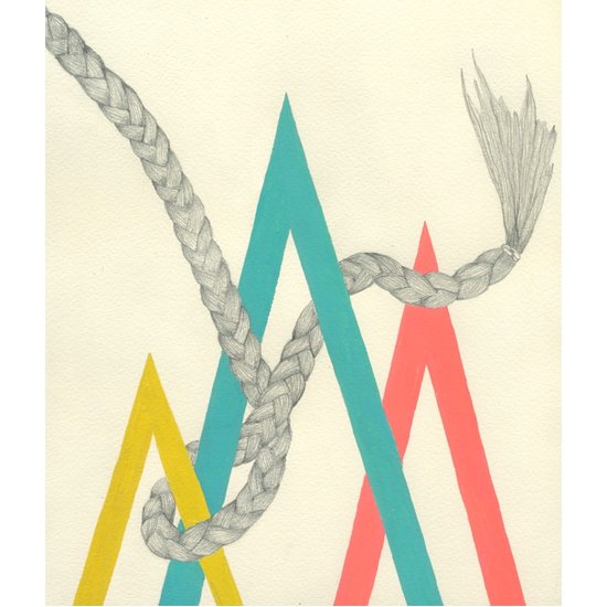 Less beauty-focused, but inarguably beautiful: San Francisco artist Lisa Congdon has released a series of limited-edition prints featuring geometric shapes and braids.
