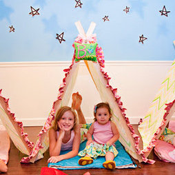 Camping-Themed Sleepover Party For Girls