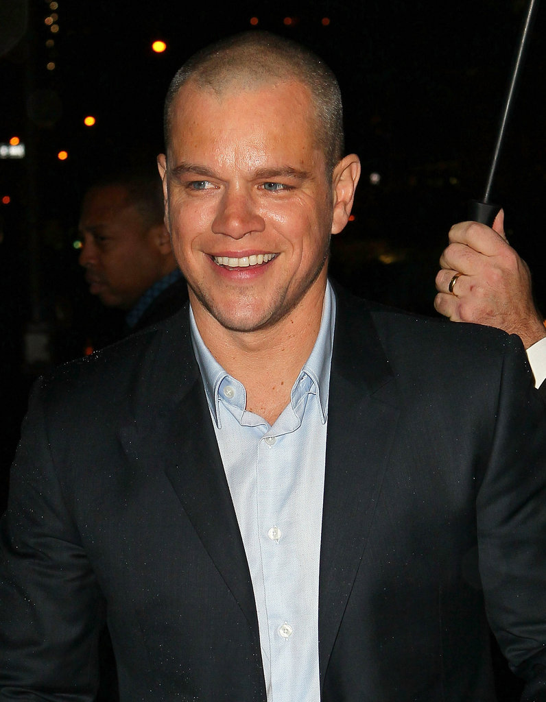 Matt Damon looked dapper on his way out of a talk show appearance.
