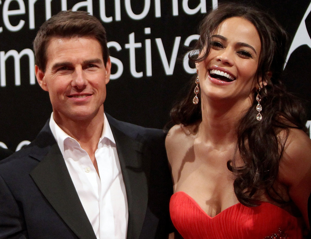 Tom Cruise and Paula Patton hit the red carpet.