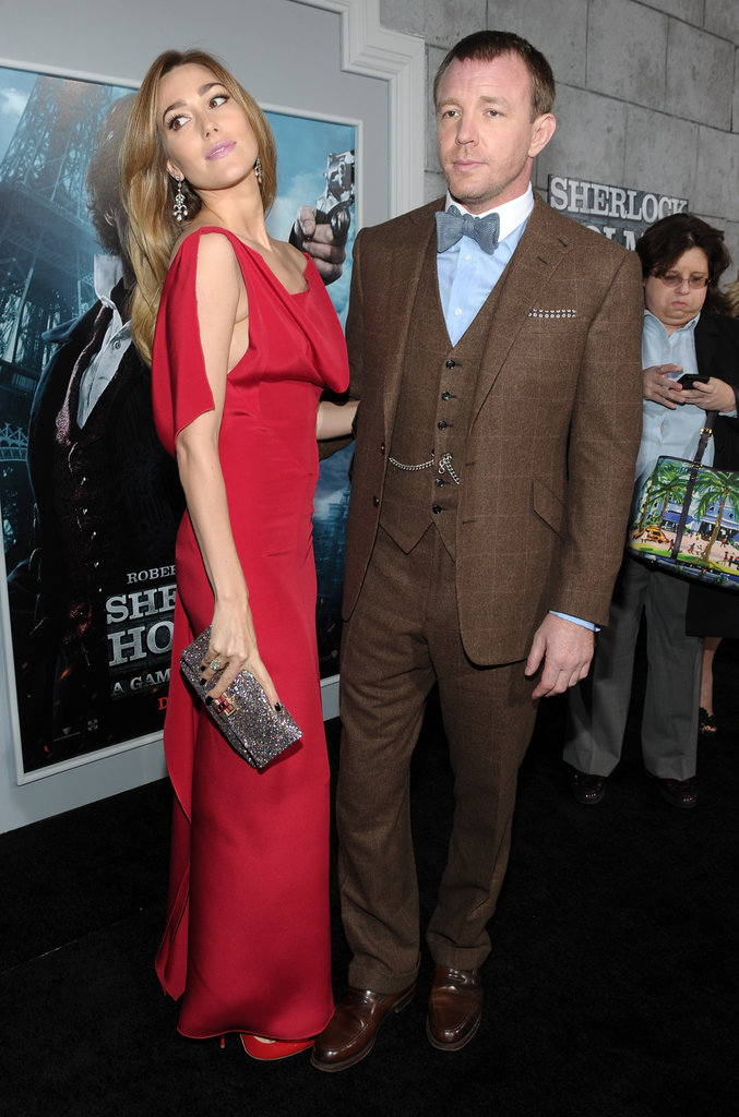 Guy Ritchie and Jacqui Ainsley posed together on the red carpet.