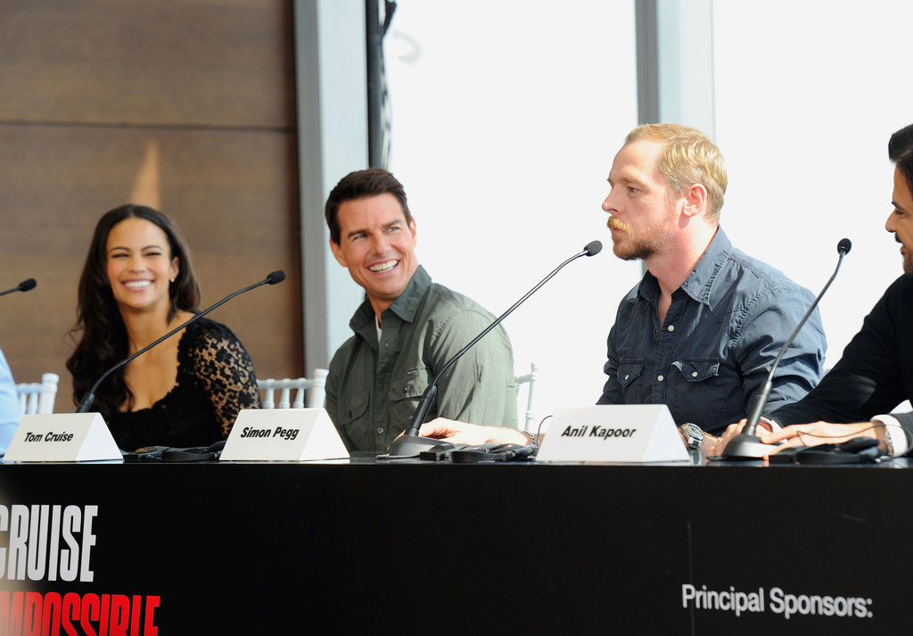 Paula Patton, Tom Cruise, and Simon Pegg answered questions about Mission: Impossible – Ghost Protocol in Dubai.