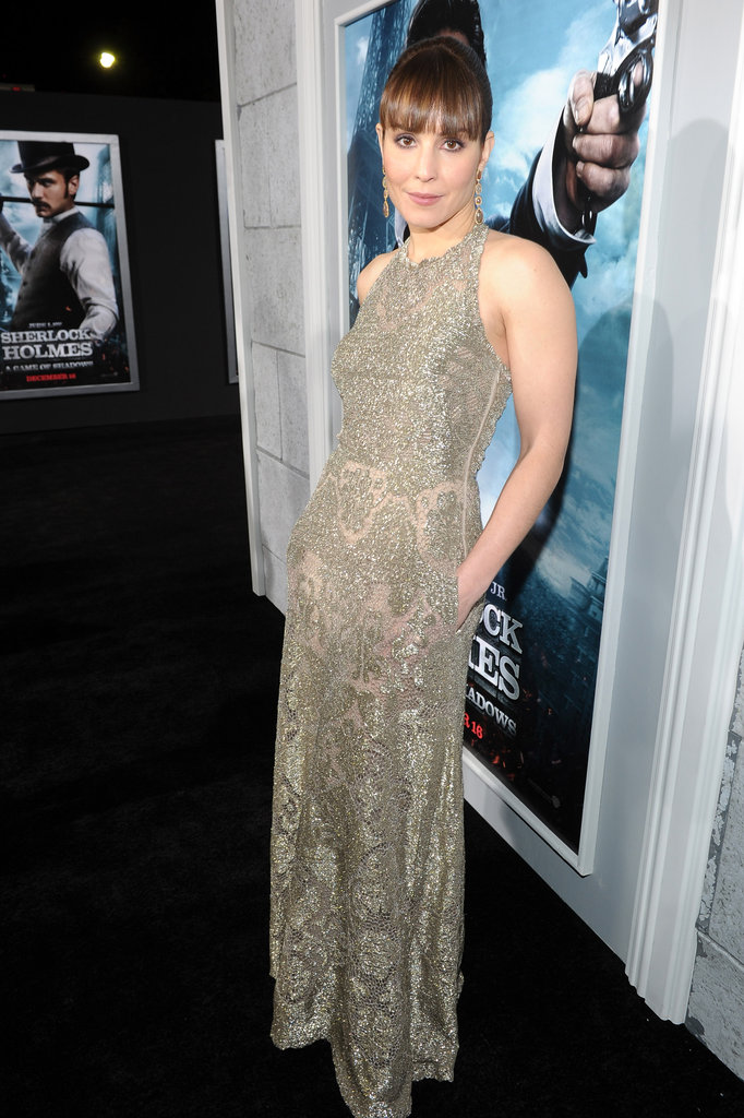 Noomi Rapace put her hands in her pockets at the Sherlock Holmes: A Game of Shadows premiere in LA.