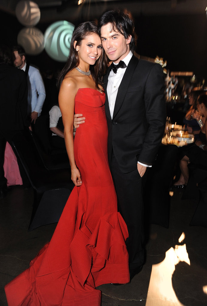 Nina Dobrev and Ian Somerhalder were the talk of the night in their dashing attire at September 2011's Primetime Emmy Awards Governor's Ball held in LA.