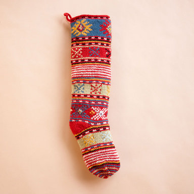 Hand-Knit Holiday Stockings ($65)