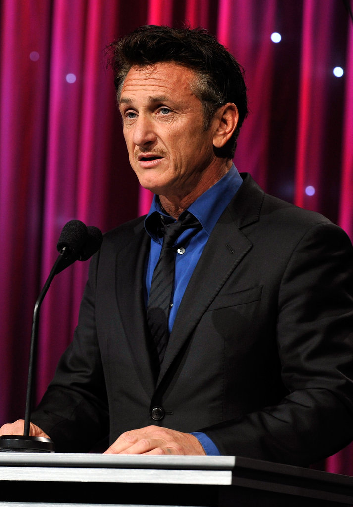Sean Penn spoke to his peers in LA.