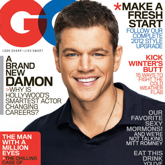 Matt Damon GQ 2012 Pictures