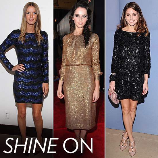 Sequin Obsession: Celebs Channel Megawatt Sparkle Just in Time For Party Season