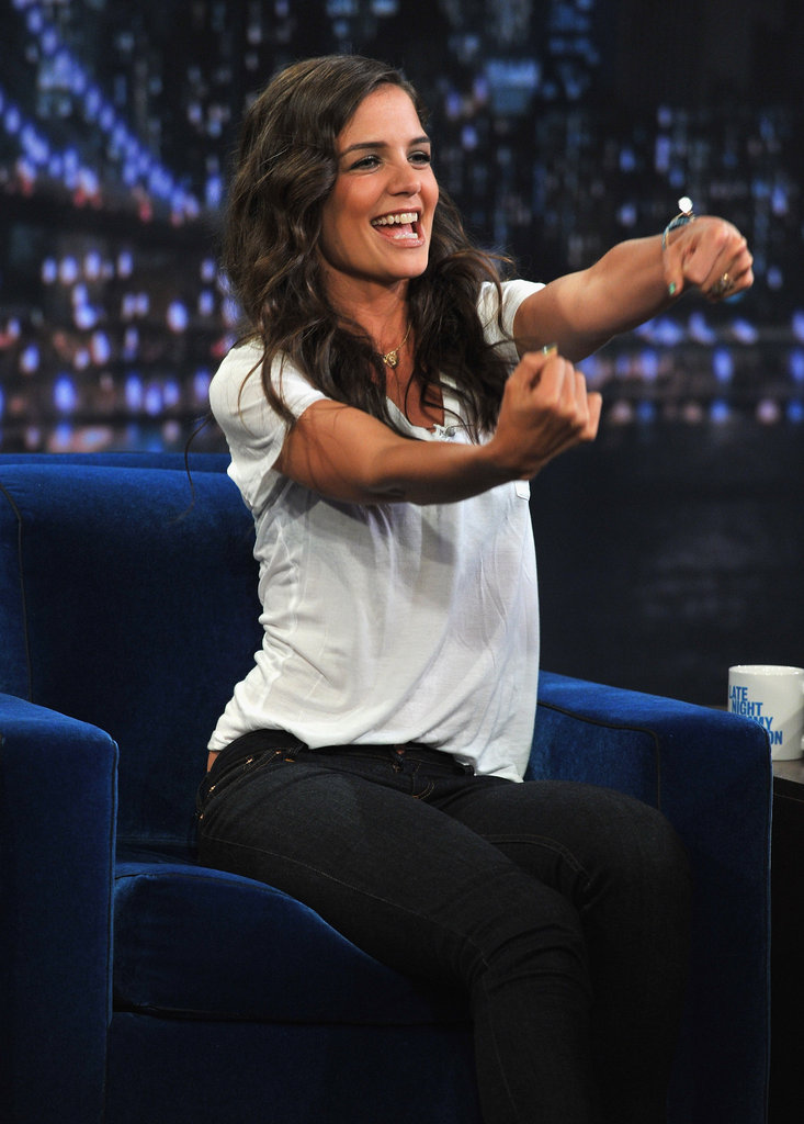 Katie Holmes told a funny story on Late Night With Jimmy Fallon in August 2011.