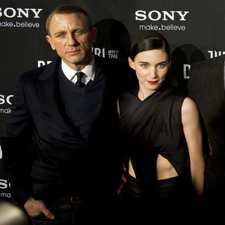 Rooney Mara and Daniel Craig Pictures at The Girl with the Dragon Tattoo Sweden Premiere