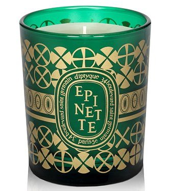 """Diptyque candles are a Parisian classic, and I love this woodsy holiday scent. The gold and hunter green color scheme is beautiful and so seasonal, too. I give these out to friends, family, and co-workers."" — Noria Morales, editor  Diptyque Candle ($32)"