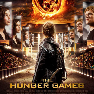 The Hunger Games Movie Poster With Katniss and Peeta ...