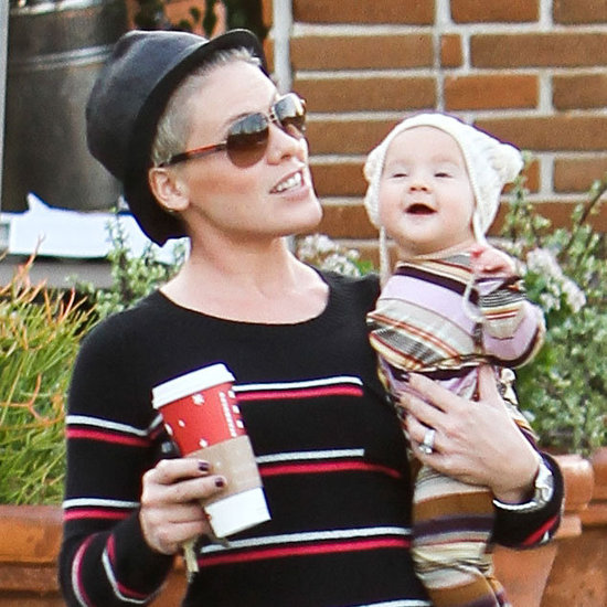 Pink and Willow Wearing Stripes in Malibu Pictures